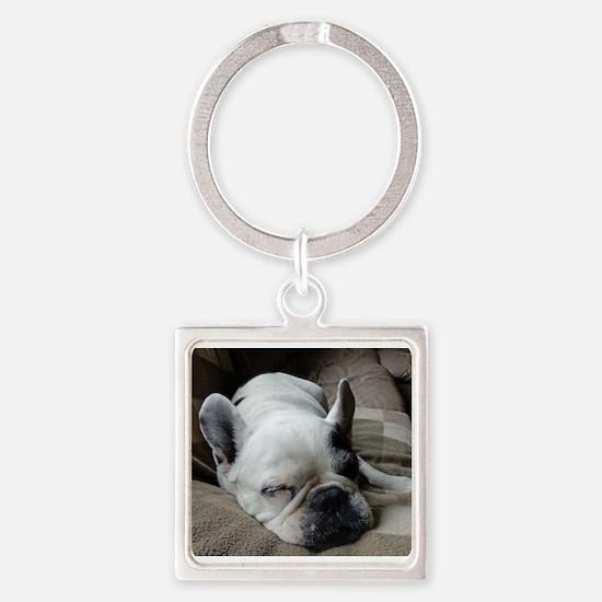 Pied French Bulldog Keychains