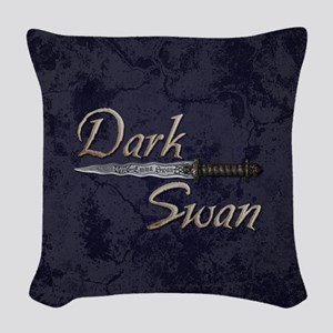 Dark Swan Dagger Woven Throw Pillow