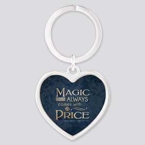 Magic Comes with a Price Heart Keychain