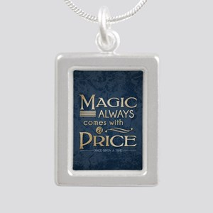 Magic Comes with a Price Silver Portrait Necklace