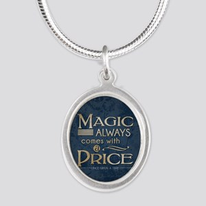 Magic Comes with a Price Silver Oval Necklace