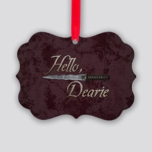 Hello Dearie Picture Ornament