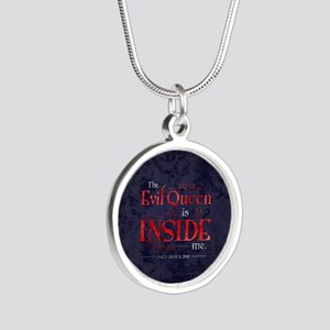 The Evil Queen is Inside Me Silver Round Necklace