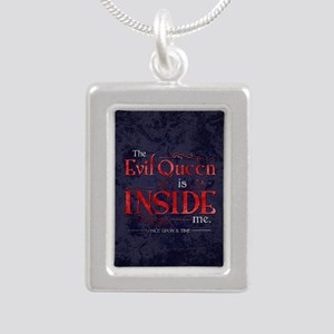 The Evil Queen is Inside Silver Portrait Necklace