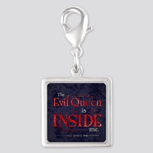 The Evil Queen is Inside Me Silver Square Charm