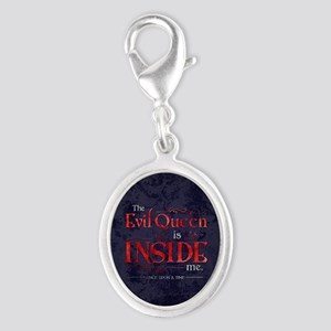 The Evil Queen is Inside Me Silver Oval Charm