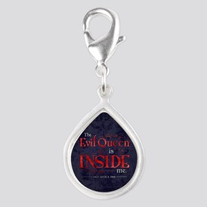 The Evil Queen is Inside Me Silver Teardrop Charm