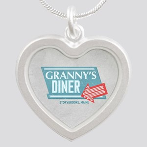 Granny's Diner Silver Heart Necklace
