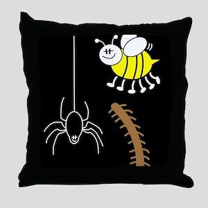 Funny Bugs Throw Pillow