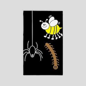 Funny Bugs Area Rug