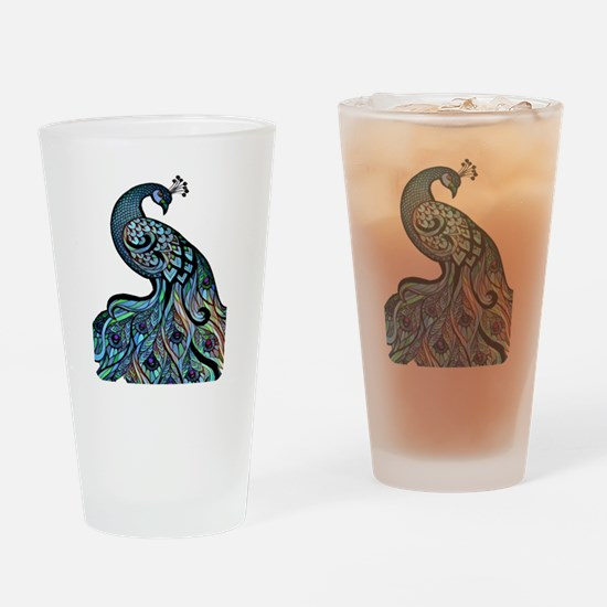 Unique Peacock Drinking Glass
