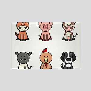 farm animal set Magnets
