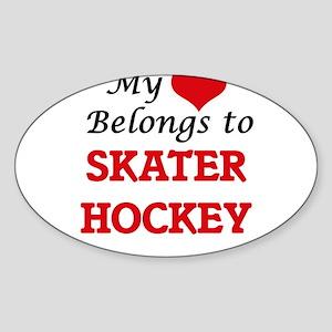 My heart belongs to Skater Hockey Sticker