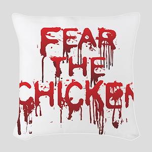 Fear Woven Throw Pillow