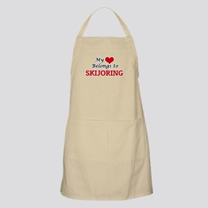 My heart belongs to Skijoring Apron