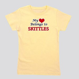 My heart belongs to Skittles Girl's Tee