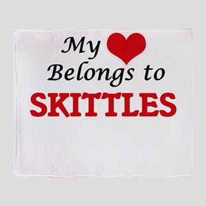 My heart belongs to Skittles Throw Blanket
