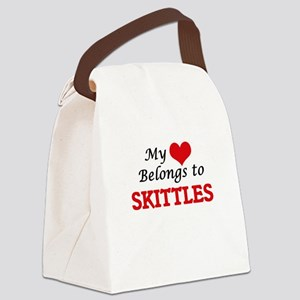 My heart belongs to Skittles Canvas Lunch Bag
