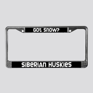 got snow? Siberian Husky License Plate Frame