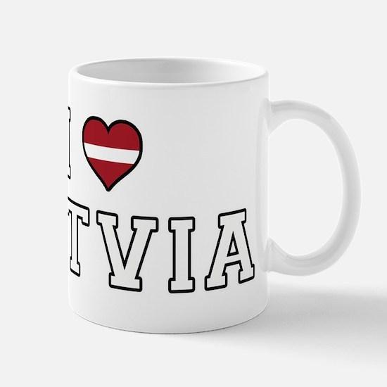 I Love Latvia Mugs