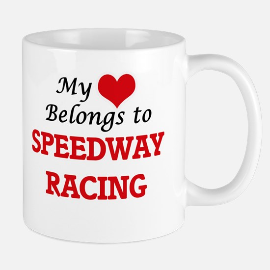 My heart belongs to Speedway Racing Mugs