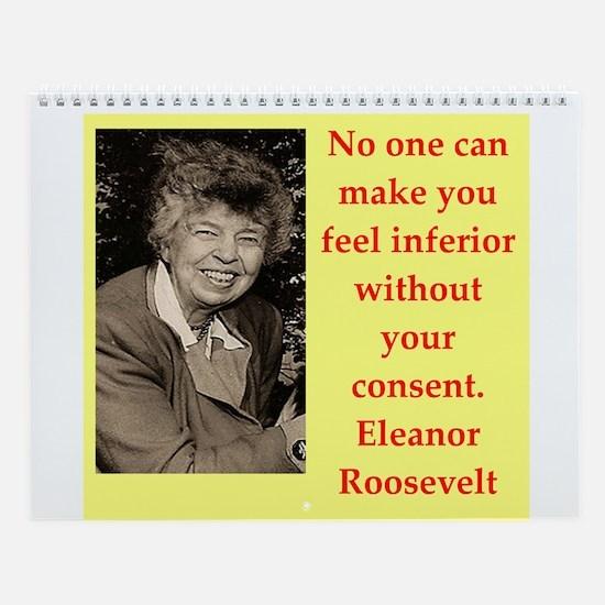 Eleanor Roosevelt Quote Wall Calendar