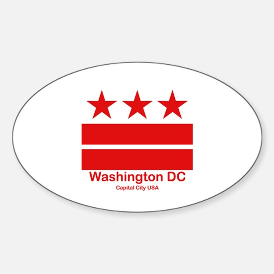 Cute District columbia flag Sticker (Oval)