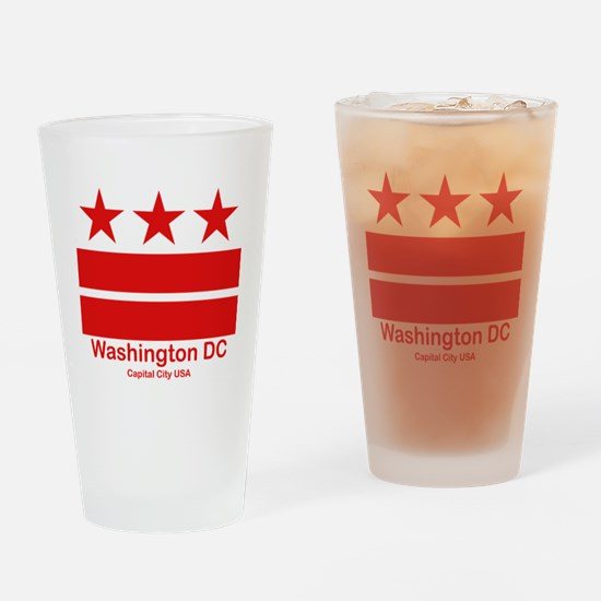 Cute District columbia flag Drinking Glass