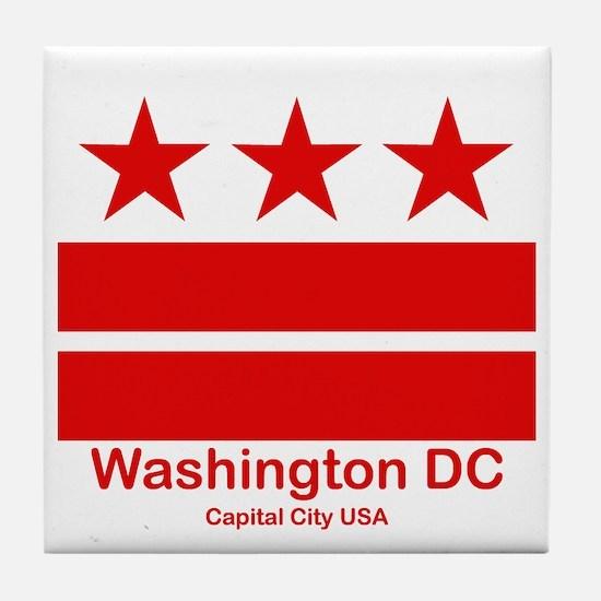 Cute District columbia flag Tile Coaster