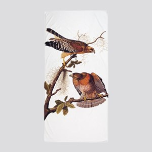 Red Shouldered Hawk Vintage Audubon Art Beach Towe