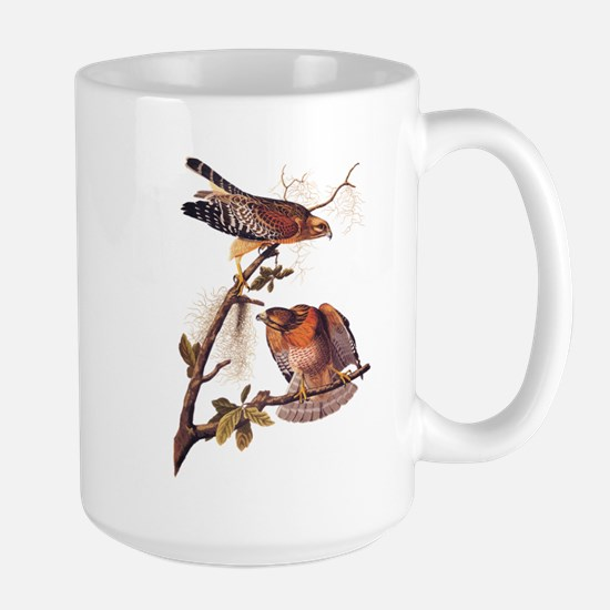 Red Shouldered Hawk Vintage Audubon Art Mugs