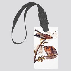 Red Shouldered Hawk Vintage Audubon Art Luggage Ta