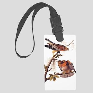 Red Shouldered Hawk Vintage Audubon Art Luggage Ta