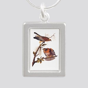 Red Shouldered Hawk Vintage Audubon Art Necklaces