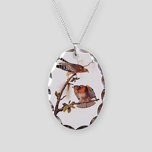 Red Shouldered Hawk Vintage Audubon Art Necklace