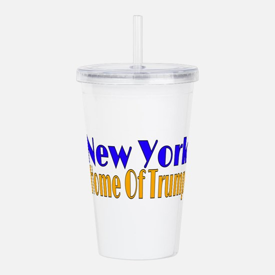 New York Home Of Trump Acrylic Double-wall Tumbler