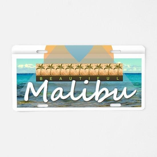 Malibu Aluminum License Plate