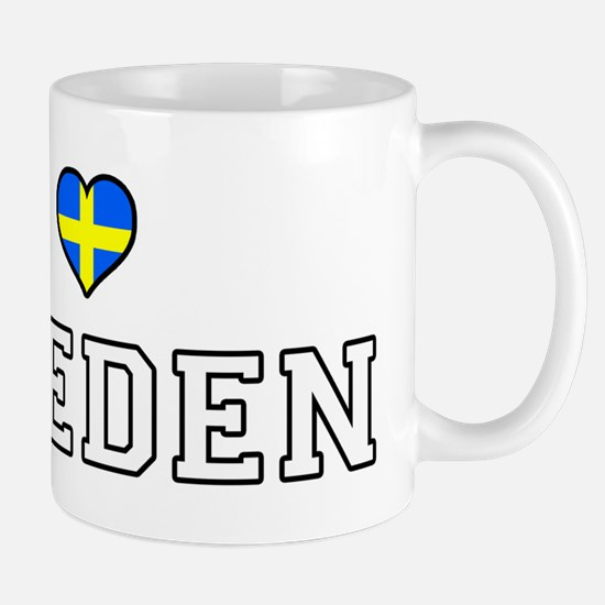 I Love Sweden Mugs