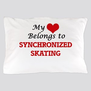 My heart belongs to Synchronized Skati Pillow Case