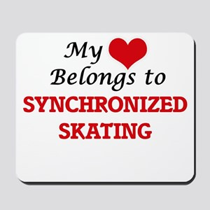My heart belongs to Synchronized Skating Mousepad