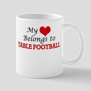 My heart belongs to Table Football Mugs