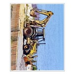 Front End Loader Truck - Small Poster - 16