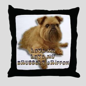 Love my Brussels GriffonThrow Pillow
