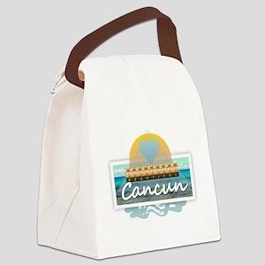 Cancun Canvas Lunch Bag