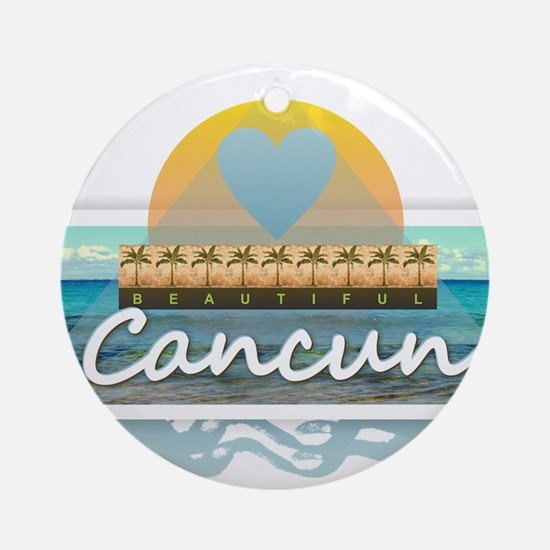 Cancun Round Ornament