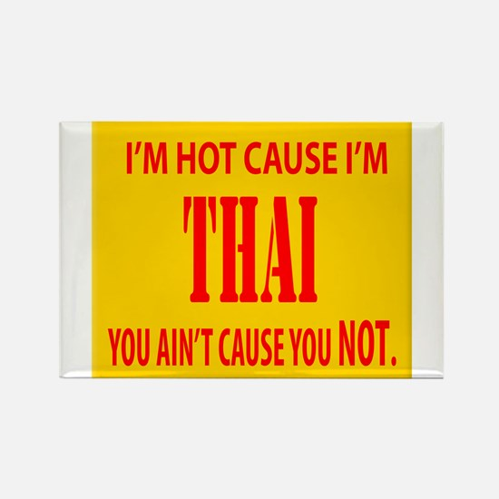Hot Thai Rectangle Magnet