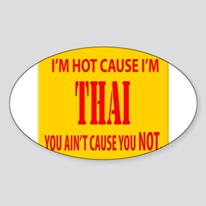 Hot Thai Oval Sticker