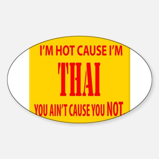 Hot Thai Oval Decal