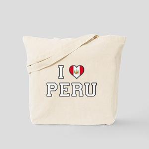 I Love Peru Tote Bag