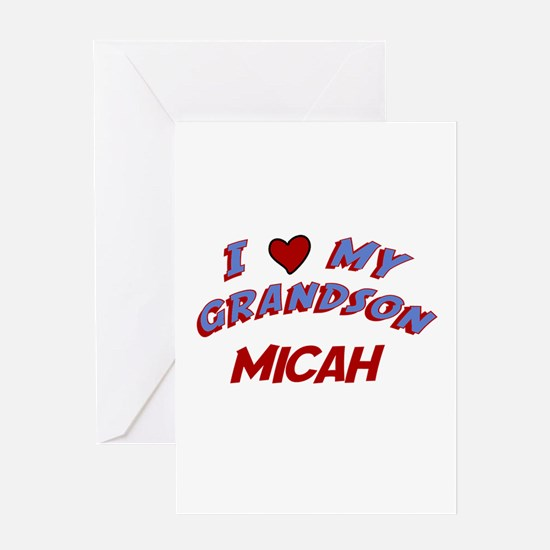 I Love My Grandson Micah Greeting Card